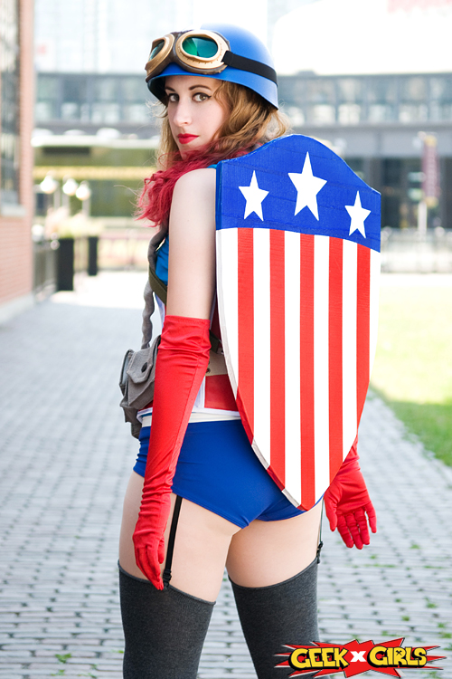 Captain America Pinup Cosplay