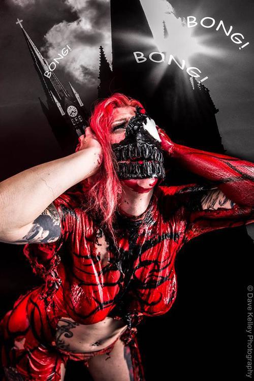 Amazing Venom Body Paint