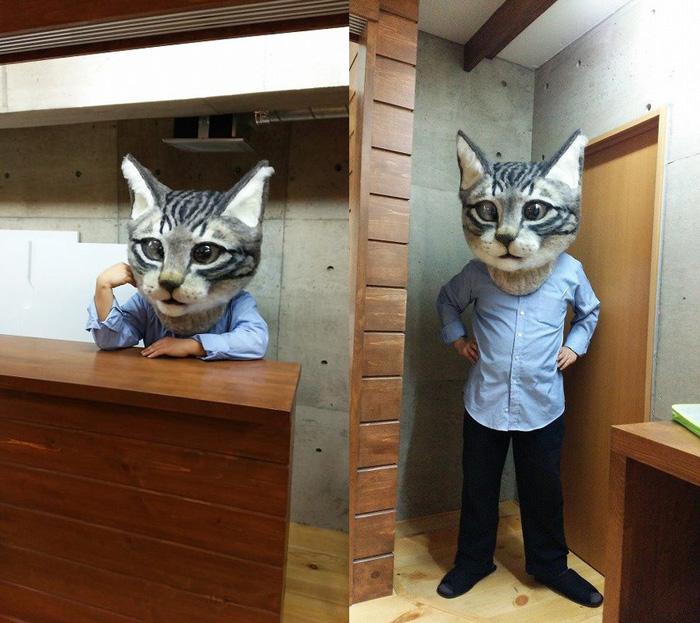 & Giant Cat Head Costume