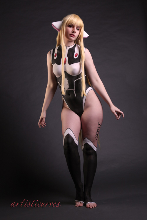Chii from Chobits Body Paint