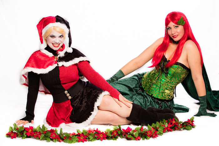 Holiday Harley Quinn & Poison Ivy Cosplay