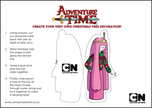 Print and Make Your Own Adventure Time Xmas Ornaments