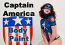 Captain America Body Paint