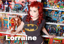 Lorraine in the Comic Room Photoshoot