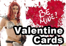Nerdy Valentine Cards featuring the Geek Girls!