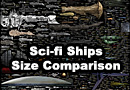 Size Comparison of Science Fiction Spaceships