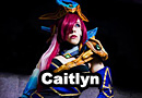 Lunar Wraith Caitlyn from League of Legends Cosplay