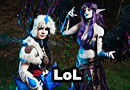 Snowstorm Sivir & Morgana from League of Legends Cosplay