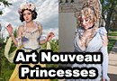 Art Nouveau Disney Princesses Group Cosplay