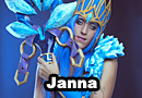 Janna Frost Queen from League of Legends Cosplay