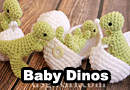 Crochet Dino Baby in Egg