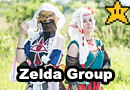 Art Nouveau Legend of Zelda Group Cosplay