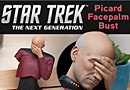 Star Trek TNG Captain Picard Facepalm Bust