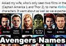Wife Tries To Name All the Infinity War Characters