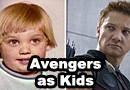 Avengers Actors as Kids