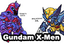 Gundam x X-Men Crossover Fan Art
