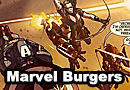 Hawkeye and Spider-Man Debate Hamburgers