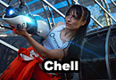 Chell from Portal Cosplay