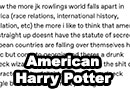 Harry Potter in America