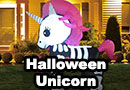 Inflatable Skeleton Unicorn Halloween Lawn Decoration