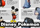 Disney Characters as Pokemon Evolutions