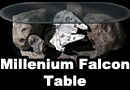 Millennium Falcon Asteroid Chase Coffee Table