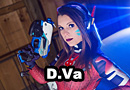 D.Va Online from Overwatch Cosplay