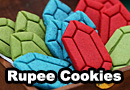 The Legend of Zelda Rupee Sugar Cookies