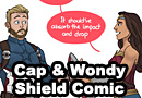 Captain America & Wonder Woman Discuss Caps Shield