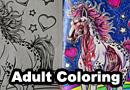 Inappropriate Coloring Book Pages Before & After