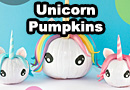 DIY Halloween Unicorn Pumpkins