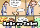 Belle vs Toilet Comic