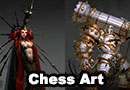 Chess Pieces Character Concept Art