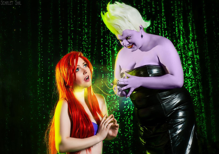 Ariel & Ursula from The Little Mermaid Cosplay