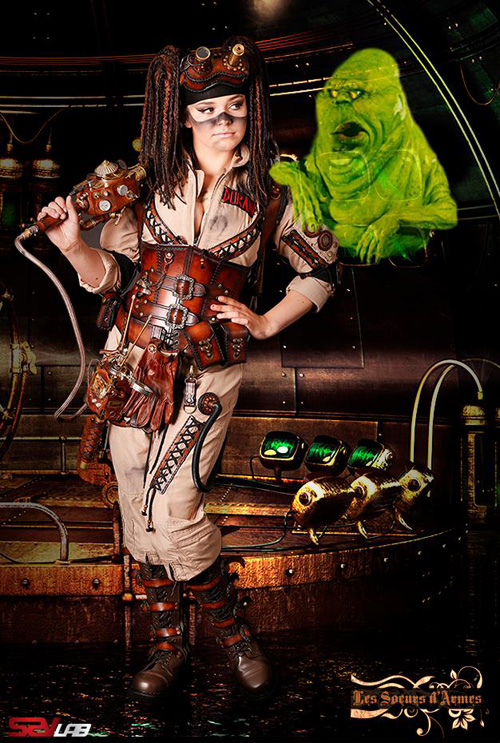 Steampunk Ghostbuster Cosplay