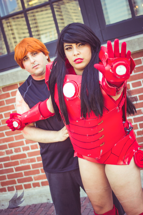 Genderbent Iron Man and Pepper Potts Cosplay