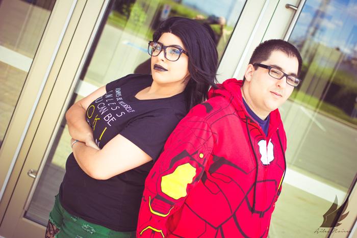 Hipster Loki and Tony Cosplay