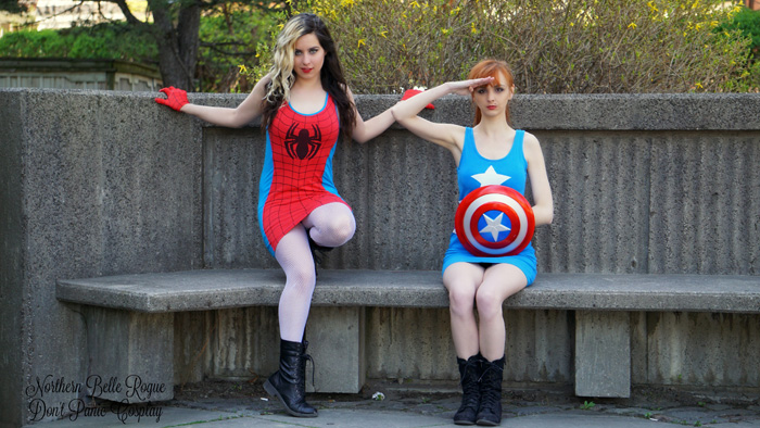 Civil War Dresses: Cap & Spidey