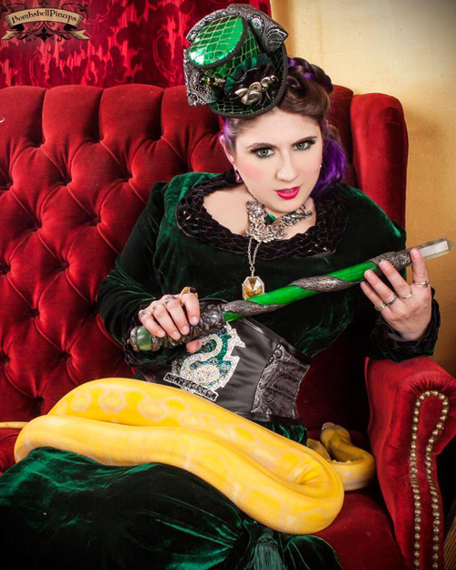 Steampunk Lady Slytherin Cosplay