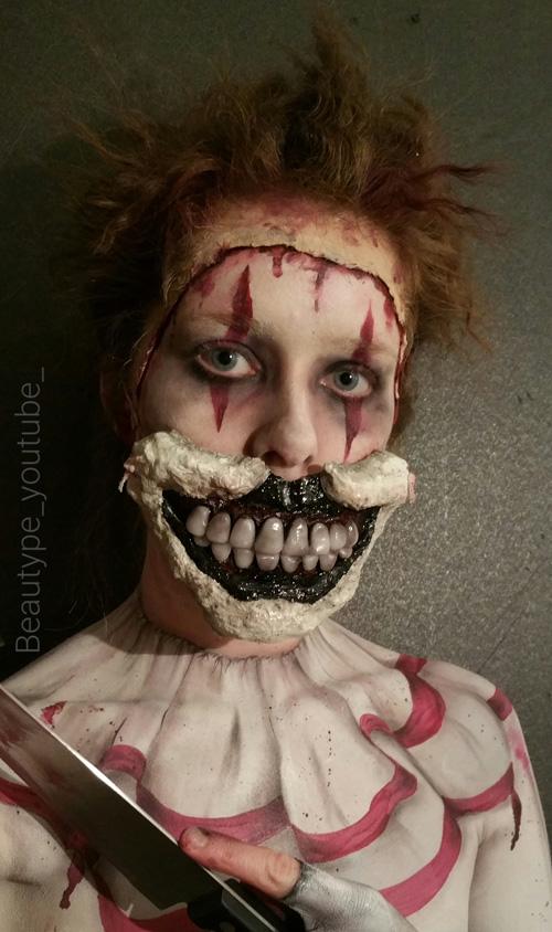 Twisty the Clown Makeup