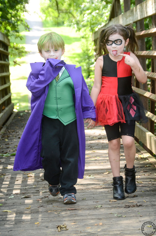 Lil Joker & Harley Quinn Cosplay
