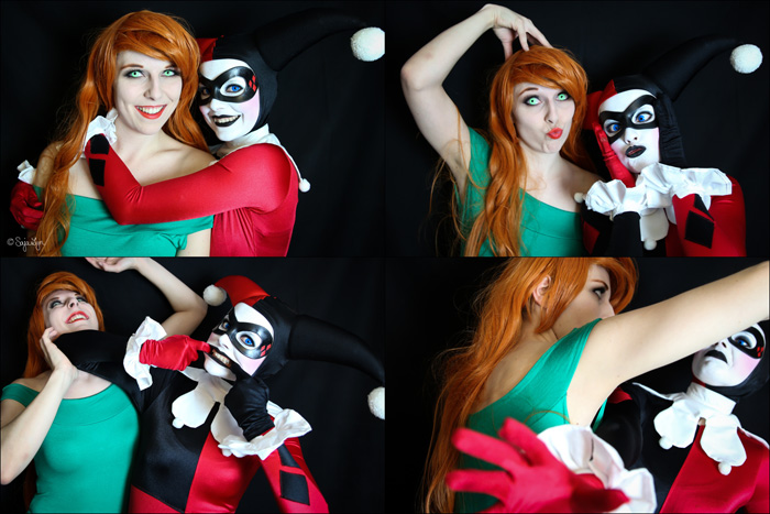Christmas Harley Quinn & Poison Ivy Cosplay