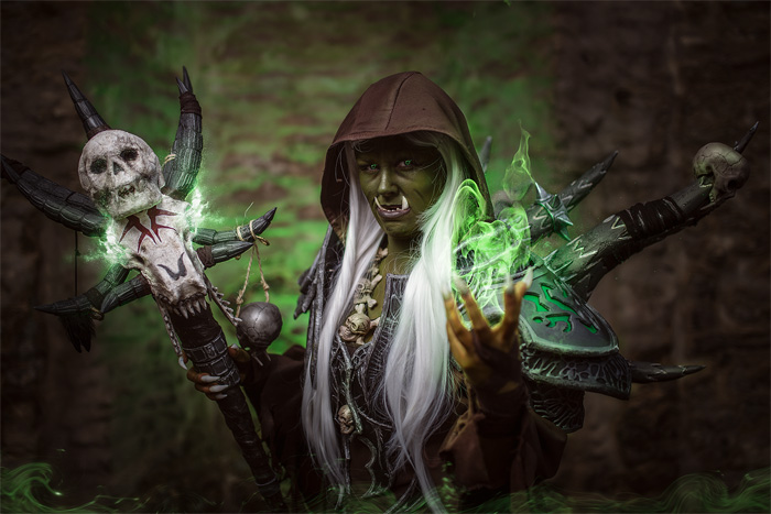 Female Guldan from World of Warcraft Cosplay