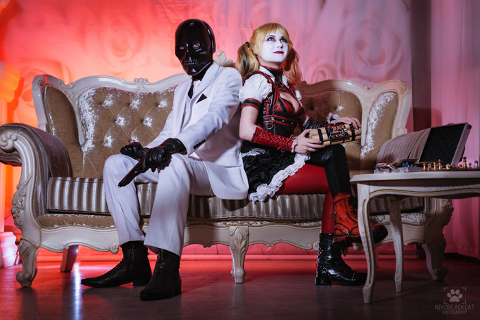 Harley Quinn & Black Mask from Batman: Arkham Knight Cosplay