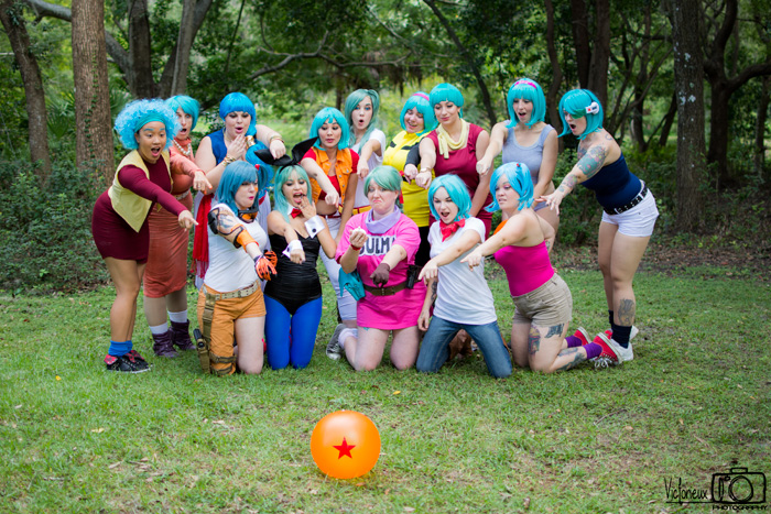 Bulma from Dragon Ball Group Cosplay