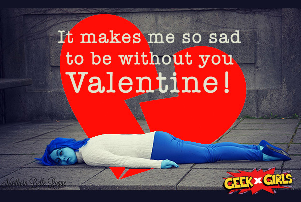 Geek Girls Valentines Day Cards