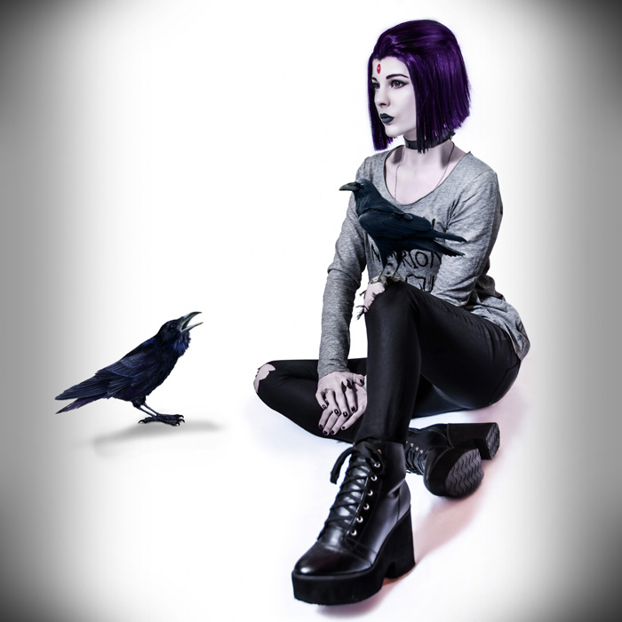 afbfaa14c3e8d8 Casual Raven from Teen Titans Cosplay
