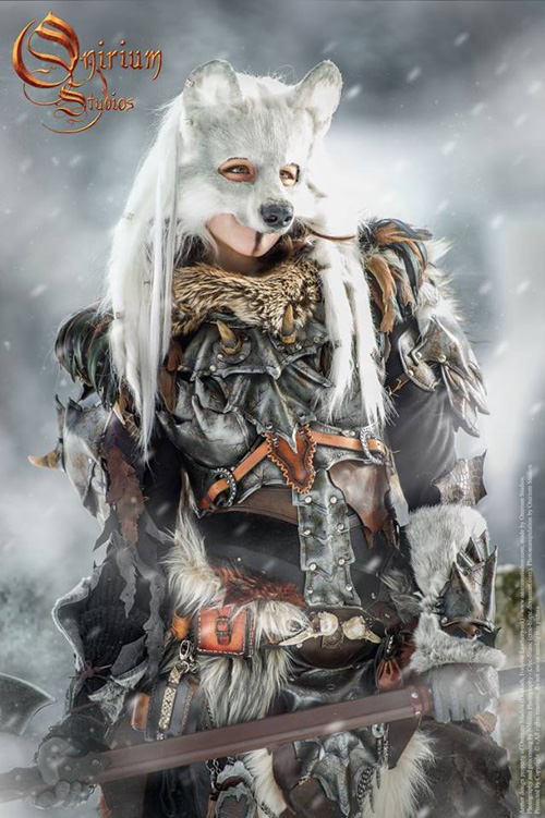 The Snow Wolf Warrior Woman Photoshoot
