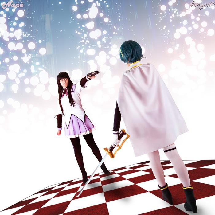 Miki & Akemi from Mahou Shoujo Madoka Magica Cosplay