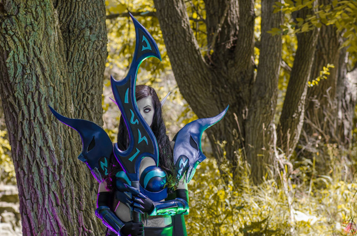 Blood Elf Death Knight from World of Warcraft Cosplay